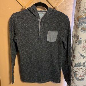 Cat & Jack Boys Long Sleeve Henley Pullover Hoodie